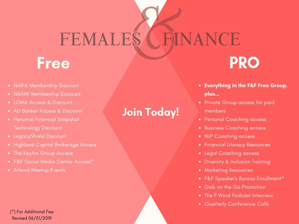 Females and Finance - Benefits 62019