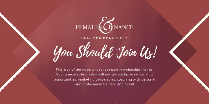 Females and Finance - PRO Area