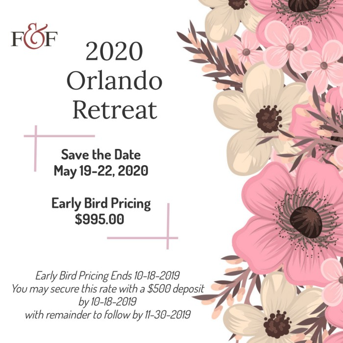 Females and Finance - 2020 Retreat Early Bird Pricing Notice